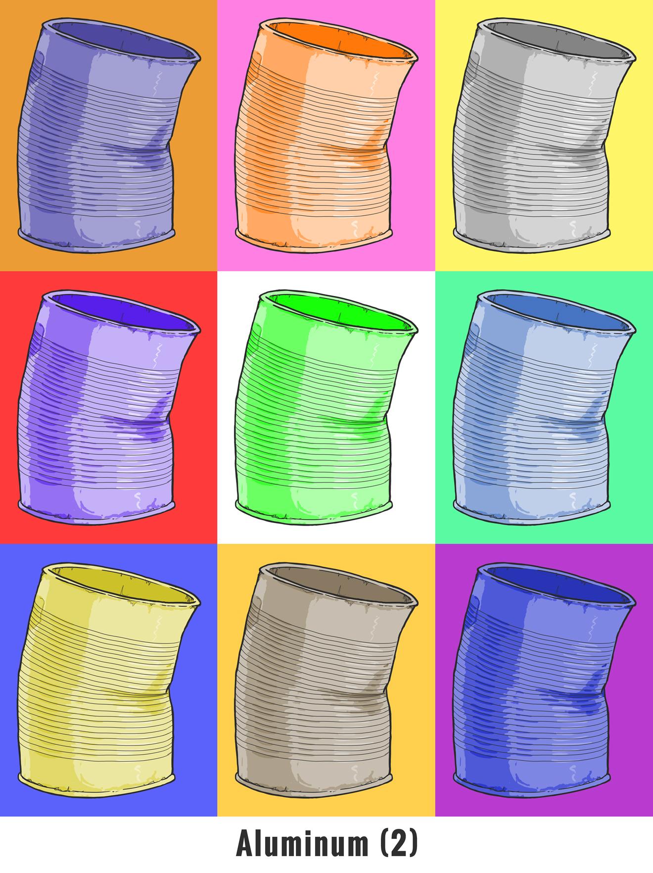 The Warhol Wanderer: Aluminum